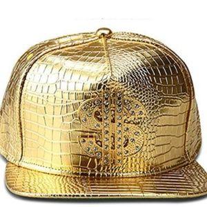 The New Crocodile Baseball caps  Hip-hop hat (Gold
